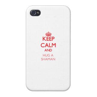 Keep Calm and Hug a Shaman iPhone 4 Covers