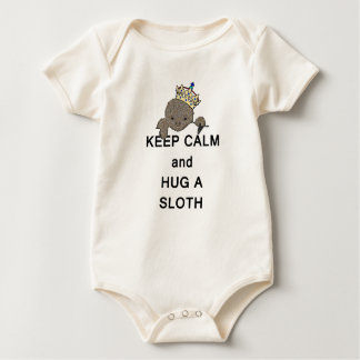 Keep Calm and Hug a Sloth Meme Baby Bodysuit