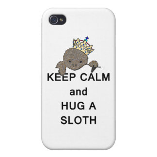 Keep Calm and Hug a Sloth Meme Cover For iPhone 4