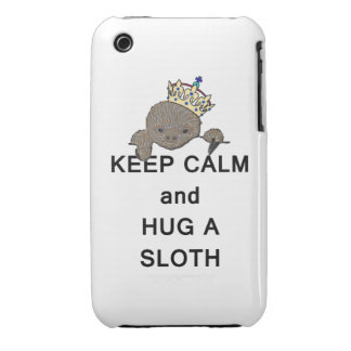 Keep Calm and Hug a Sloth Meme iPhone 3 Cases