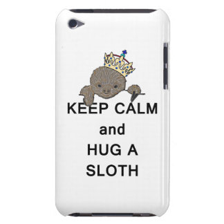 Keep Calm and Hug a Sloth Meme iPod Case-Mate Case