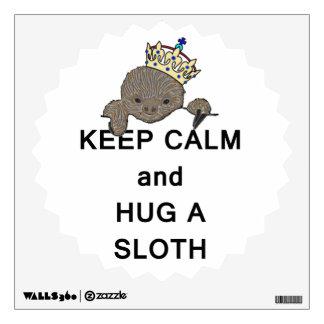 Keep Calm and Hug a Sloth Meme Wall Decal