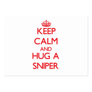 Keep Calm and Hug a Sniper Business Card Template