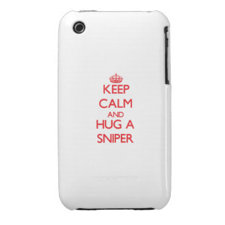 Keep Calm and Hug a Sniper iPhone 3 Cover