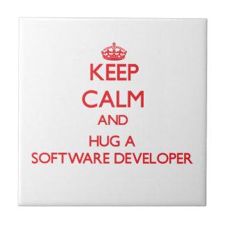Keep Calm and Hug a Software Developer Tiles
