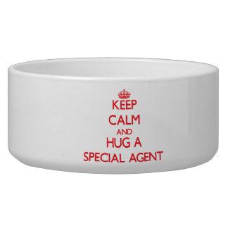 Keep Calm and Hug a Special Agent Pet Bowl