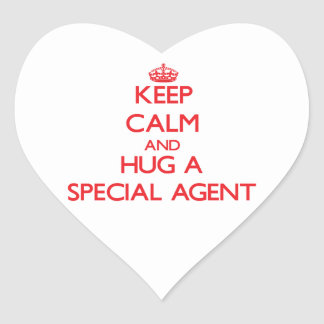 Keep Calm and Hug a Special Agent Stickers