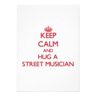Keep Calm and Hug a Street Musician Card