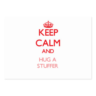 Keep Calm and Hug a Stuffer Large Business Cards (Pack Of 100)