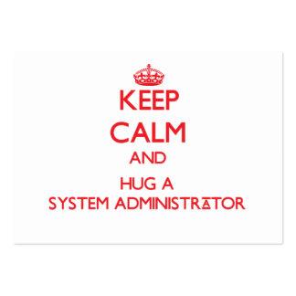 Keep Calm and Hug a System Administrator Business Card Templates
