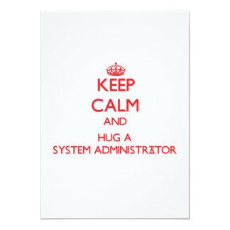 Keep Calm and Hug a System Administrator Card