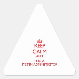 Keep Calm and Hug a System Administrator Sticker