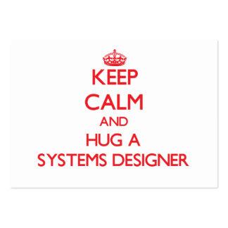 Keep Calm and Hug a Systems Designer Business Card Templates