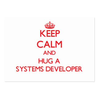 Keep Calm and Hug a Systems Developer Business Card Template