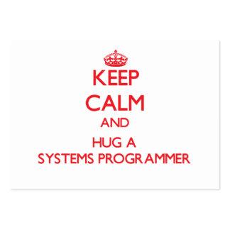 Keep Calm and Hug a Systems Programmer Business Card Templates