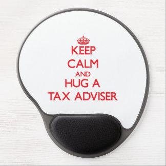 Keep Calm and Hug a Tax Adviser Gel Mouse Mats