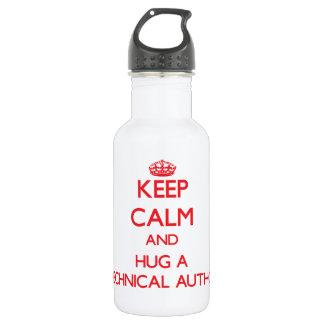 Keep Calm and Hug a Technical Author 18oz Water Bottle