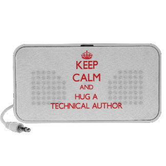 Keep Calm and Hug a Technical Author Portable Speakers