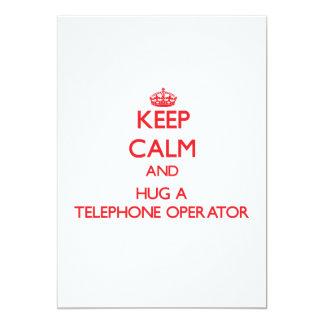 Keep Calm and Hug a Telephone Operator Custom Invites