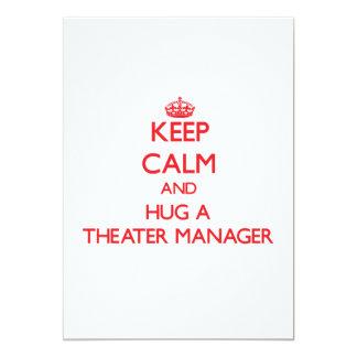 Keep Calm and Hug a Theater Manager Custom Invites