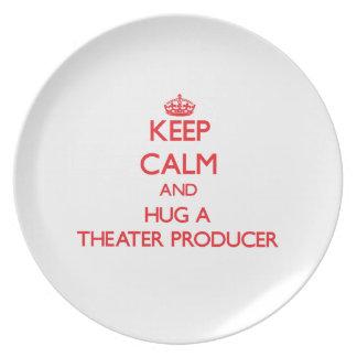 Keep Calm and Hug a Theater Producer Dinner Plate