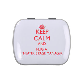 Keep Calm and Hug a Theater Stage Manager Jelly Belly Candy Tins