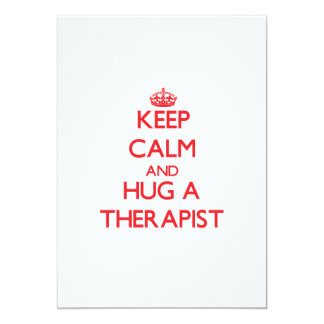 Keep Calm and Hug a Therapist Personalized Announcements