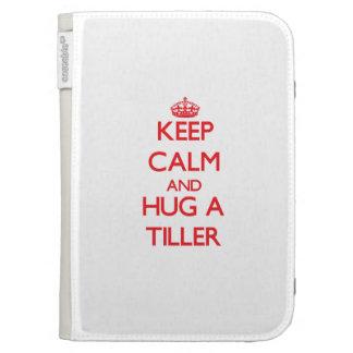 Keep Calm and Hug a Tiller Kindle Folio Case
