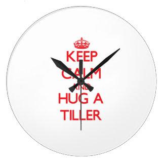 Keep Calm and Hug a Tiller Wall Clock