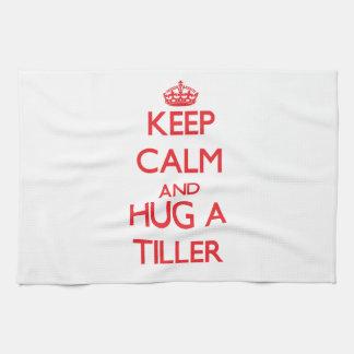 Keep Calm and Hug a Tiller Hand Towel
