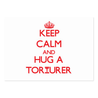 Keep Calm and Hug a Torturer Large Business Cards (Pack Of 100)