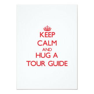 Keep Calm and Hug a Tour Guide Custom Invites