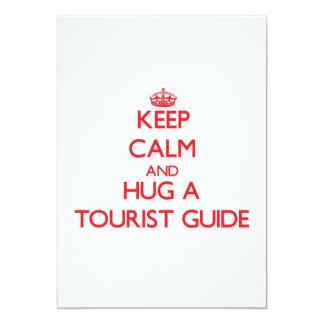 Keep Calm and Hug a Tourist Guide Announcement