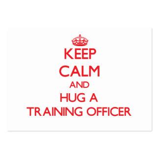 Keep Calm and Hug a Training Officer Business Cards