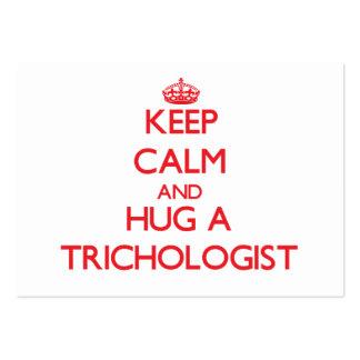 Keep Calm and Hug a Trichologist Business Cards