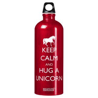 Keep Calm and Hug a Unicorn Water Bottle
