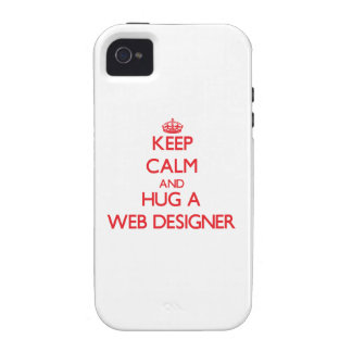 Keep Calm and Hug a Web Designer Vibe iPhone 4 Cases
