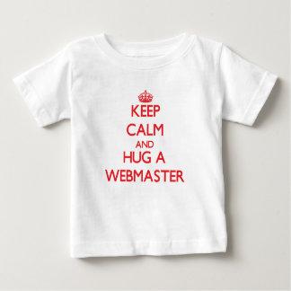 Keep Calm and Hug a Webmaster Tee Shirts