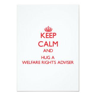 Keep Calm and Hug a Welfare Rights Adviser Custom Announcement
