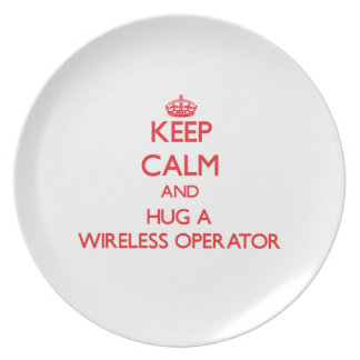 Keep Calm and Hug a Wireless Operator Party Plates