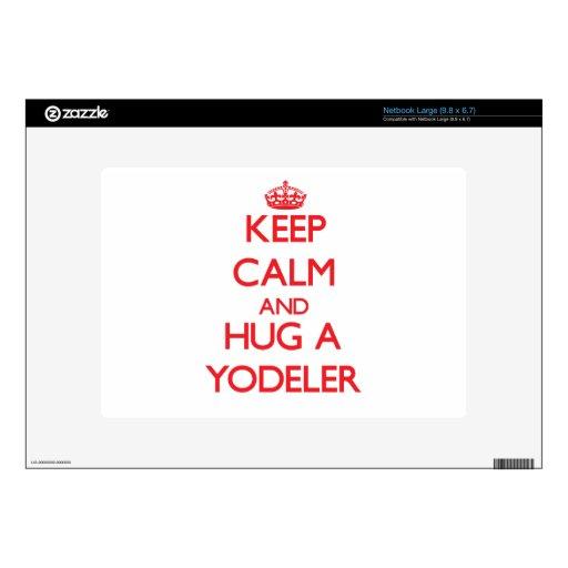 Keep Calm and Hug a Yodeler Skin For Large Netbook