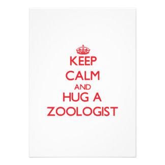 Keep Calm and Hug a Zoologist Invite