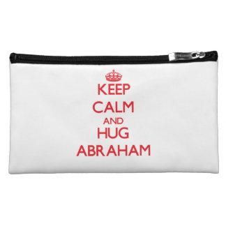 Keep Calm and HUG Abraham Makeup Bag