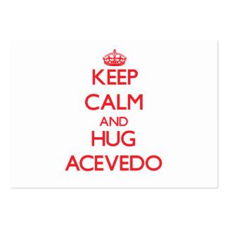 Keep calm and Hug Acevedo Business Cards