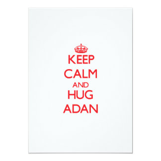 Keep Calm and HUG Adan 5x7 Paper Invitation Card