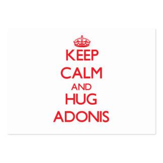 Keep Calm and HUG Adonis Business Card