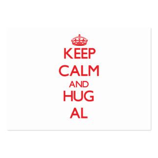 Keep Calm and HUG Al Large Business Cards (Pack Of 100)