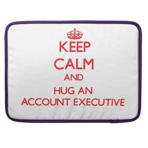 Keep Calm and Hug an Account Executive Sleeve For MacBooks