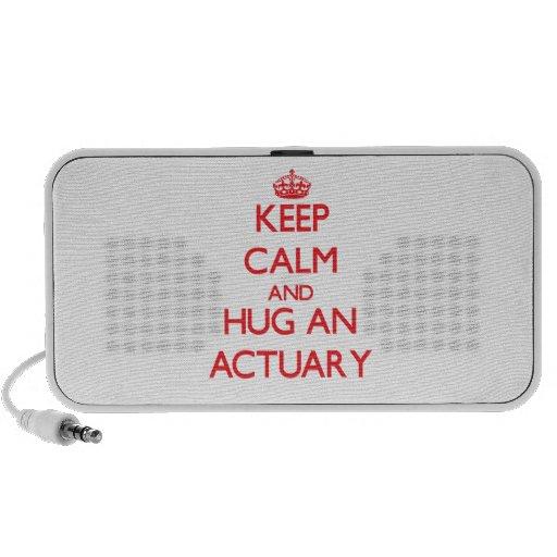 Keep Calm and Hug an Actuary Mini Speakers