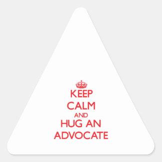 Keep Calm and Hug an Advocate Stickers